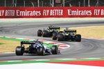 Pierre Gasly (AlphaTauri), Daniel Ricciardo (Renault) und Esteban Ocon (Renault)