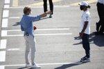 Lewis Hamilton (Mercedes) und Nico Rosberg