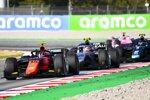 Daniel Ticktum (DAMS), Felipe Drugovich (MP Motorsport) und Luca Ghiotto (Hitech)