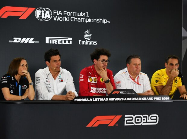 Claire Williams, Toto Wolff, Mattia Binotto, Zak Brown, Cyril Abiteboul