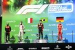 Luca Ghiotto (Hitech), Felipe Drugovich (MP Motorsport) und Mick Schumacher (Prema)