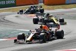 Max Verstappen (Red Bull), Esteban Ocon (Renault) und Valtteri Bottas (Mercedes)