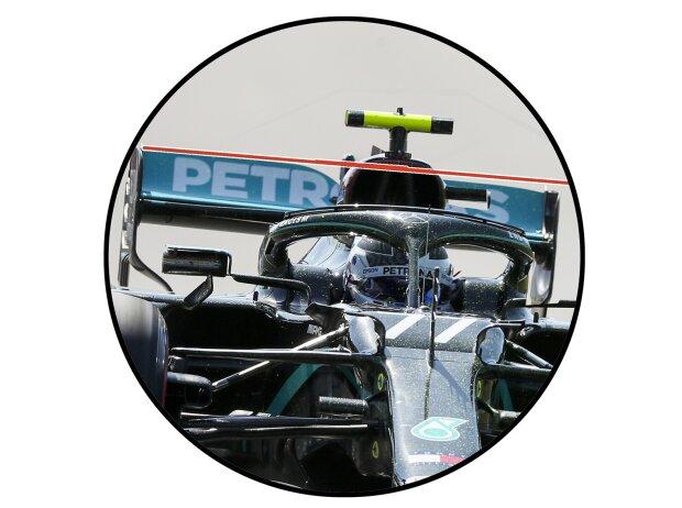 Valtteri Bottas, flexibler Heckflügel am Mercedes F1 W11 EQ Performance