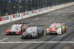 Loic Duval (Phoenix-Audi), Ferdinand Habsburg (WRT ) und Sheldon van der Linde (RBM-BMW)
