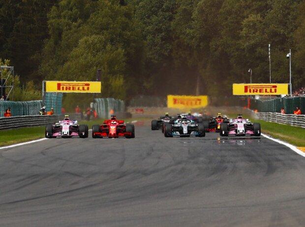 Sebastian Vettel, Lewis Hamilton, Esteban Ocon, Sergio Perez