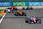 Lance Stroll (Racing Point), Lando Norris (McLaren), Daniil Kwjat (AlphaTauri), Sebastian Vettel (Ferrari) und Kimi Räikkönen (Alfa Romeo)