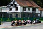 Max Verstappen (Red Bull), Pierre Gasly (AlphaTauri), Sergio Perez (Racing Point) und Alexander Albon (Red Bull)