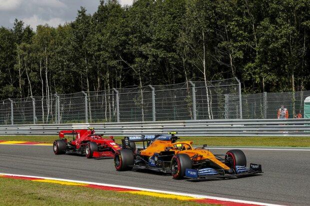 Lando Norris Charles Leclerc Ferrari Ferrari F1McLaren McLaren F1 ~Lando Norris (McLaren) und Charles Leclerc (Ferrari) ~