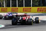Antonio Giovinazzi (Alfa Romeo) und Lance Stroll (Racing Point)