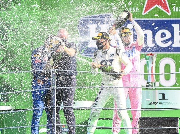 Carlos Sainz, Pierre Gasly, Lance Stroll