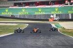 Carlos Sainz (McLaren), Lewis Hamilton (Mercedes) und Valtteri Bottas (Mercedes)