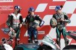 Fabio Quartararo (Petronas), Maverick Vinales (Yamaha) und Franco Morbidelli (Petronas)