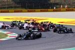 Lewis Hamilton (Mercedes), Valtteri Bottas (Mercedes), Charles Leclerc (Ferrari), Alexander Albon (Red Bull) und Lance Stroll (Racing Point)