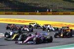 Sergio Perez (Racing Point), Daniel Ricciardo (Renault), Alexander Albon (Red Bull) und Daniil Kwjat (AlphaTauri)