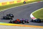Lewis Hamilton (Mercedes), Daniel Ricciardo (Renault), Sergio Perez (Racing Point), Alexander Albon (Red Bull) und Valtteri Bottas (Mercedes)