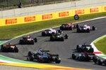 Charles Leclerc (Ferrari), Lance Stroll (Racing Point), Sergio Perez (Racing Point) und Daniel Ricciardo (Renault)