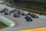 Lewis Hamilton (Mercedes), Valtteri Bottas (Mercedes), Charles Leclerc (Ferrari) und Alexander Albon (Red Bull)
