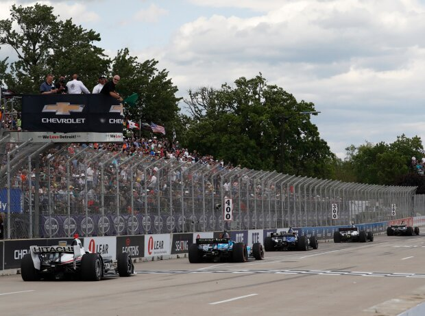 IndyCar-Action in Detroit