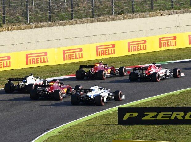 Daniil Kwjat, Kimi Räikkönen, Charles Leclerc, Romain Grosjean, Sebastian Vettel, George Russell