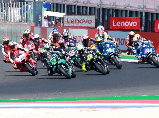 MotoGP Start in Misano