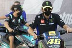 Franco Morbidelli und Valentino Rossi (Yamaha)