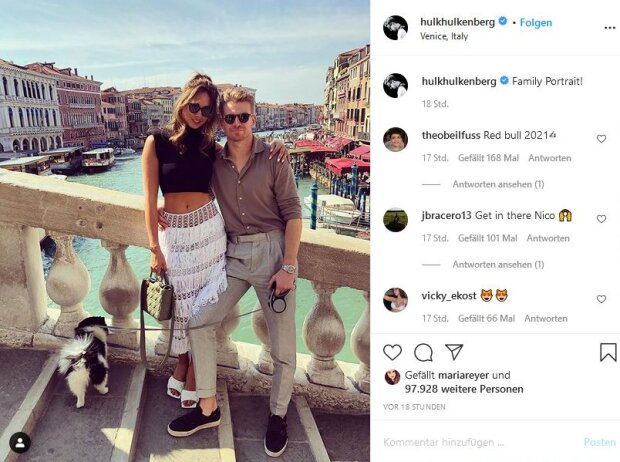 Egle Ruskyte und Nico Hülkenberg bei ihrer Verlobung in Venedig