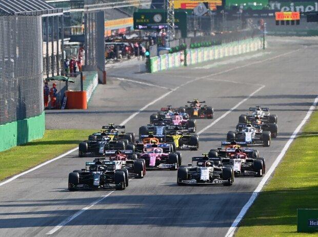 Lewis Hamilton, Pierre Gasly, Kimi Räikkönen, Antonio Giovinazzi