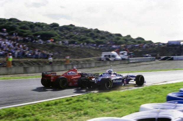 Michael Schumacher Jacques Villeneuve Ferrari Ferrari F1Williams Williams F1Renault Renault F1 ~Michael Schumacher und Jacques Villeneuve ~