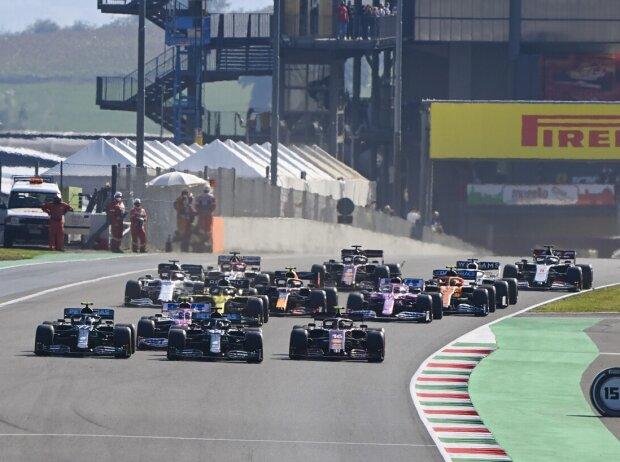 Lewis Hamilton, Valtteri Bottas, Charles Leclerc, Sergio Perez