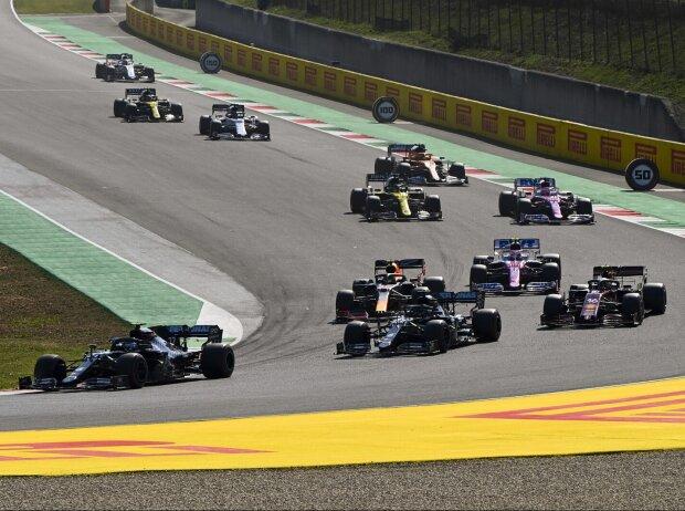 Lewis Hamilton, Valtteri Bottas, Charles Leclerc, Alexander Albon, Lance Stroll