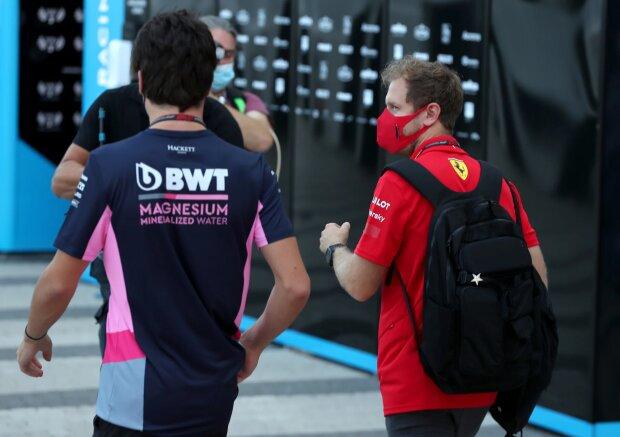 Sebastian Vettel Lance Stroll Ferrari Ferrari F1Racing Point Racing Point F1 ~Sebastian Vettel (Ferrari) und Lance Stroll (Racing Point) ~