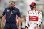 Otmar Szafnauer und Kimi Räikkönen (Alfa Romeo)
