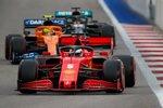 Sebastian Vettel (Ferrari), Lando Norris (McLaren) und Lewis Hamilton (Mercedes)