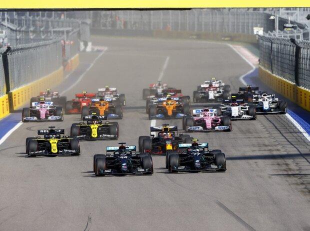 Lewis Hamilton, Valtteri Bottas, Max Verstappen, Daniel Ricciardo