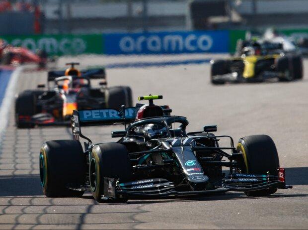 Valtteri Bottas, Max Verstappen, Esteban Ocon