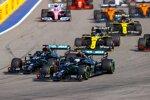 Lewis Hamilton (Mercedes), Valtteri Bottas (Mercedes), Max Verstappen (Red Bull), Daniel Ricciardo (Renault) und Esteban Ocon (Renault)