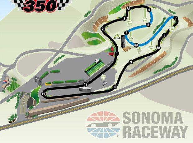 Streckenlayout: Sonoma Raceway