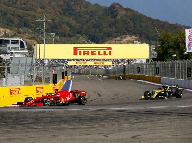 Sebastian Vettel, Esteban Ocon, Daniel Ricciardo