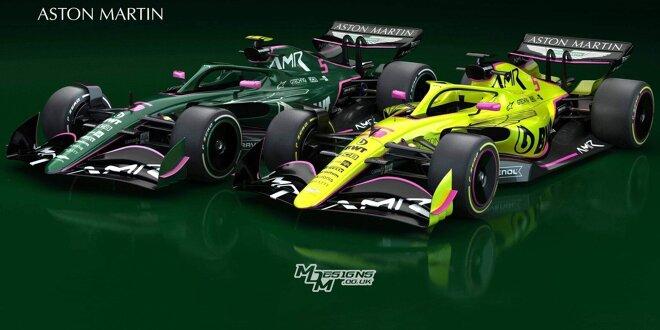 Vettels Neue Farben Bei Aston Martin British Racing Green Pink
