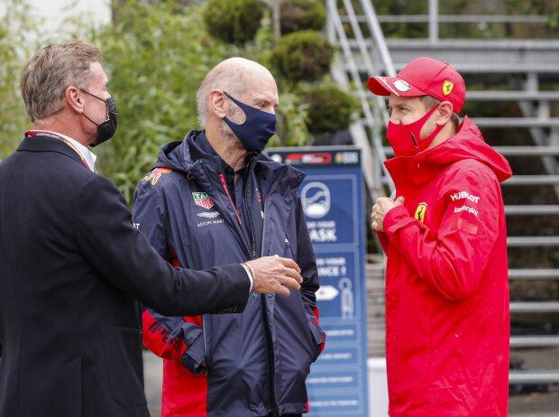 David Coulthard, Adrian Newey, Sebastian Vettel