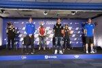 Johann Zarco (Avintia), Joan Mir (Suzuki), Francesco Bagnaia (Pramac), Fabio Quartararo (Petronas), Jorge Martin (KTM Ajo) und Alex Rins (Suzuki)