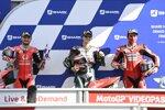 Jack Miller (Pramac), Fabio Quartararo (Petronas) und Danilo Petrucci (Ducati)