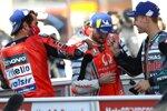 Danilo Petrucci (Ducati), Jack Miller (Pramac) und Fabio Quartararo (Petronas)