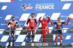 Alex Marquez (Honda), Danilo Petrucci (Ducati) und Pol Espargaro (KTM)