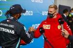 Mick Schumacher und Lewis Hamilton (Mercedes)