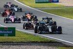 Lewis Hamilton (Mercedes), Max Verstappen (Red Bull), Daniel Ricciardo (Renault), Sergio Perez (Racing Point) und Carlos Sainz (McLaren)