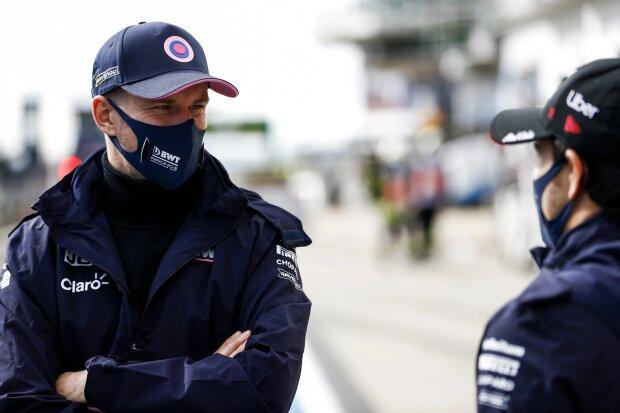 Nico Hülkenberg Sergio Perez Racing Point Racing Point F1 ~Nico Hülkenberg (Racing Point) und Sergio Perez (Racing Point) ~