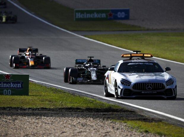 Safety-Car, Lewis Hamilton, Max Verstappen