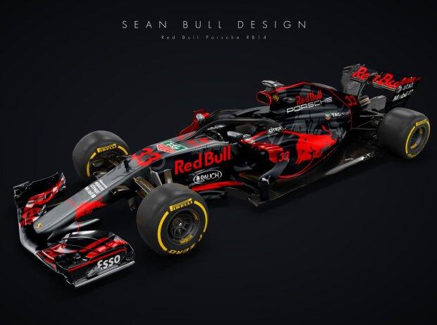 Studie Red-Bull-Porsche RB14 von Sean Bull