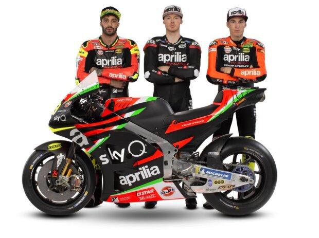 Andrea Iannone, Bradley Smith, Aleix Espargaro